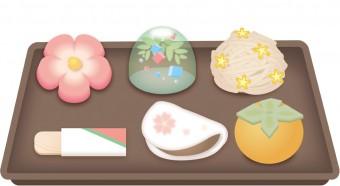 和菓子お盆つき