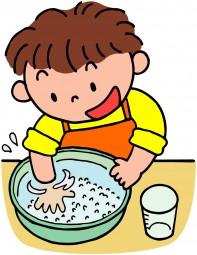 米洗うイラスト