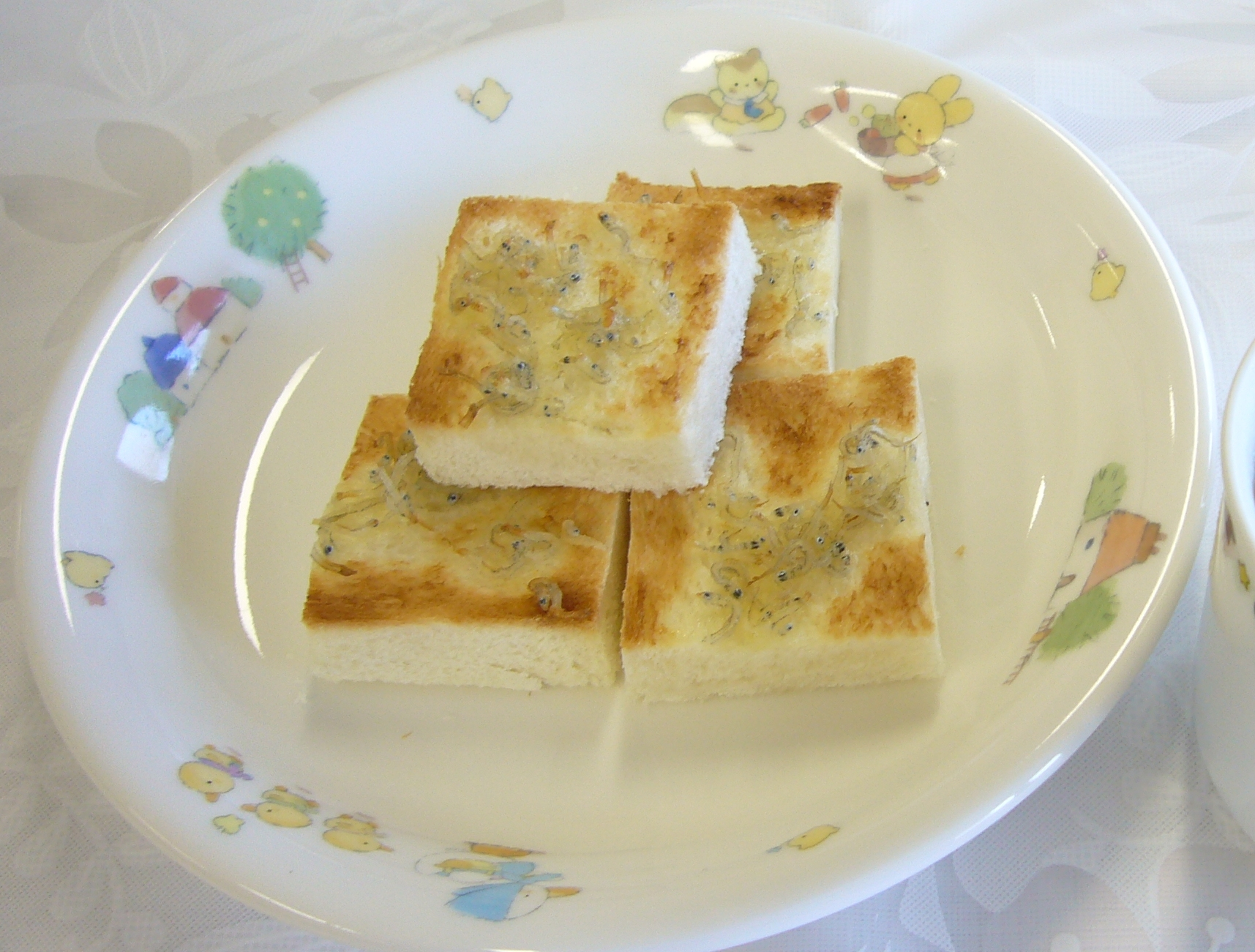 離乳食 じゃこトースト(1歳6か月から2歳頃)