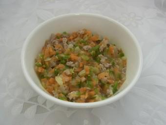 離乳食 豚肉と野菜のみそ炒め(9か月から11か月頃 大人の食時からの取り分けメニュー)