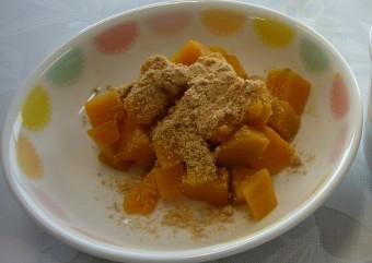 離乳食 かぼちゃのあべかわ(12か月から18か月頃)
