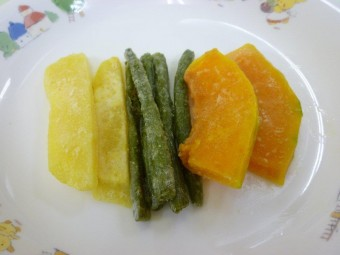 離乳食 野菜のムニエル (9か月から11か月頃)