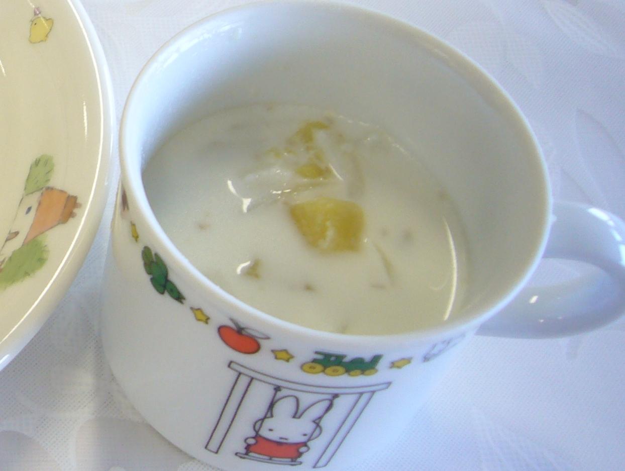 離乳食 さつまいものミルクスープ(1歳6か月から2歳頃)